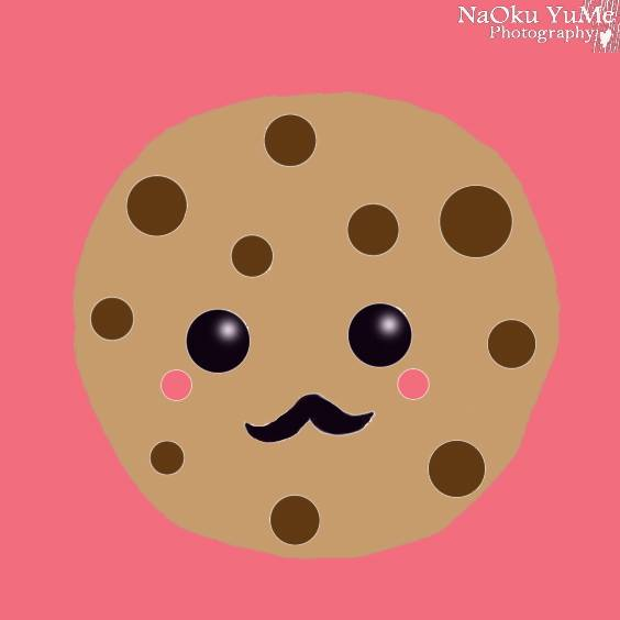 A cookie drawn using a drawing tablet