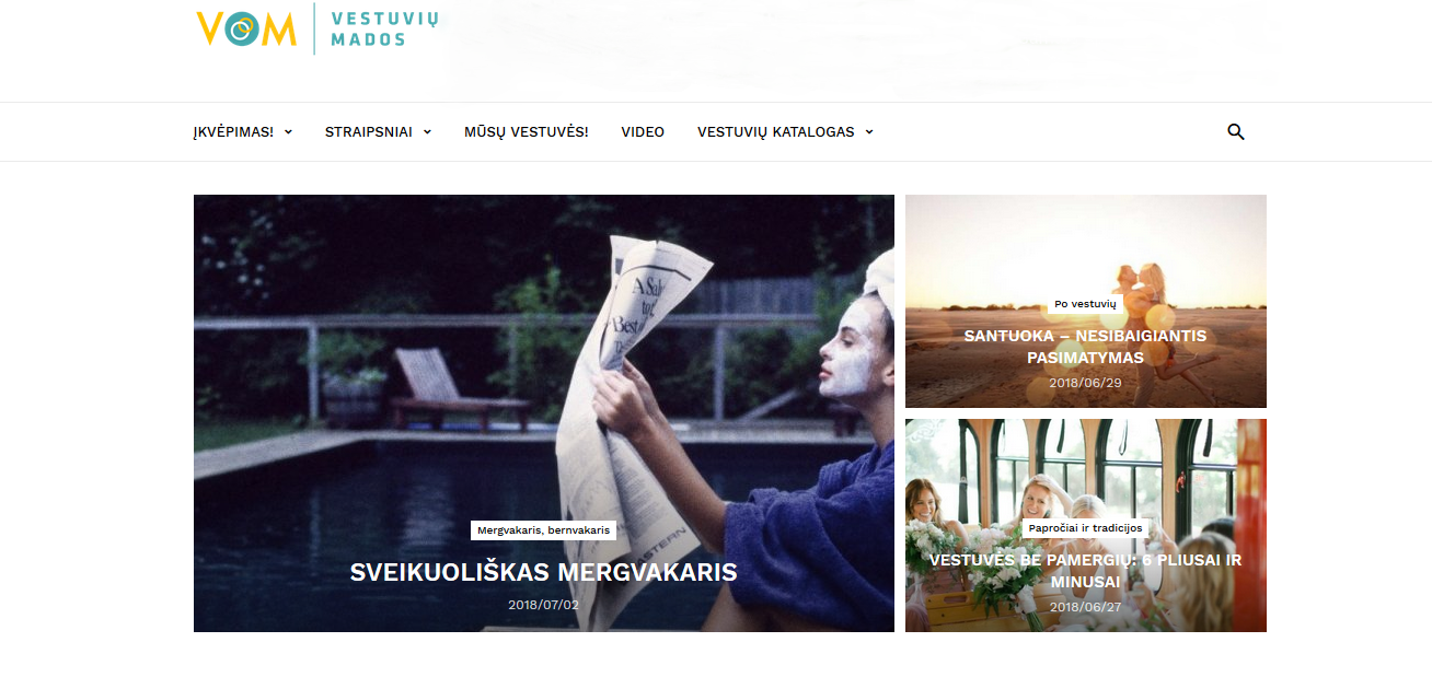 www.vestuviumados.lt main page