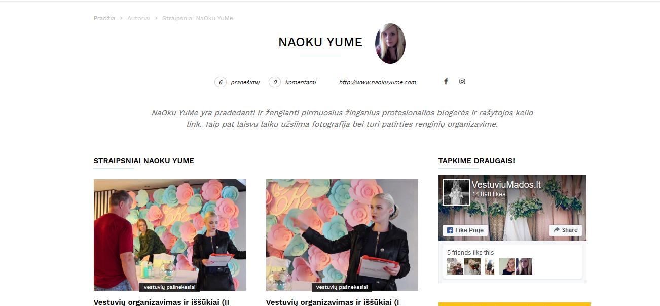 www.vestuviumados.lt author naokuyume