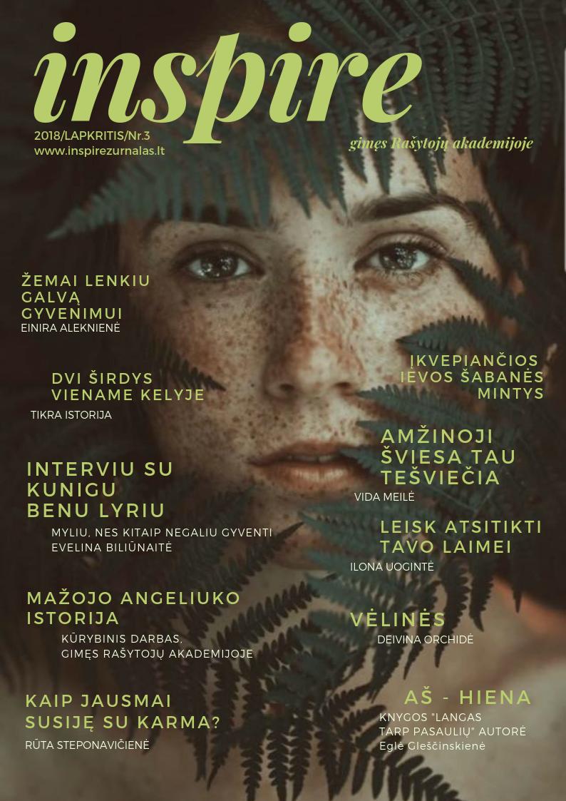 Inspire magazine. November edition